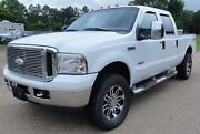 2006 Ford F-250 Lariat Heated Leather Seats Moonroof 6cd Chrome Package Camper Pkg New Oil Cooler Clean
