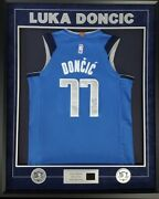 Autographed And Custom Framed Authentic Luca Doncic Mavericks Jersey W/video Psa