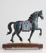 Hotel Home Decoration Brass Copper Hand-painted Andalusian Horse Sculpture