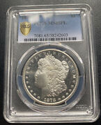 1878 Cc 1 Morgan Silver Dollar Die Chip Nostril Pcgs Secure Ms65 Proof-like