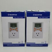 Lot Of 2 Nearpow Multifunctional Energy-saving Programmable Timer Switch Outlet
