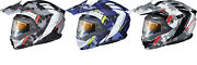 New Scorpion Exo-at950 Outrigger Helmet W/electric Shield   Motorcycle Helmet