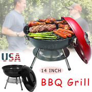 14 Portable Grill Bbq Smoker Charcoal Outdoor Camping Patio Wood Barbeque Oven