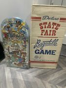 Marx Toys Bagatelle Pinball Usa 1950's 1953 Deluxe State Fair Game Boxed
