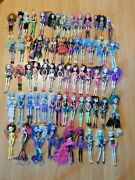 Huge Mattel Monster High Lot Of Dolls And Clothes Shoes Bike Furniture And Extras