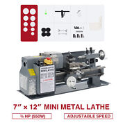 3/4hp 7x12 Inch 2250rpm Mini Metal Lathe With Brushed Motor 3-jaw Chuck And More