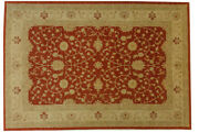 Afghan Chobi Ziegler Carpet Hand Knotted 190x290 Red Oriental Wool
