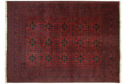 Afghan Khal Mohammadi Carpet Hand Knotted 250x340 Red Geometric Pattern