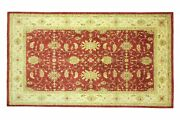 Afghan Chobi Ziegler Carpet Hand Knotted 190x300 Red Floral Wool Short-pile