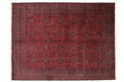 Afghan Khal Mohammadi Carpet Hand Knotted 260x340 Red Geometric Pattern