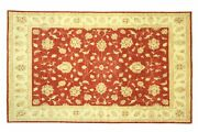 Afghan Chobi Ziegler Carpet Hand Knotted 200x290 Red Floral Wool Short-pile