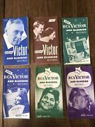 Lot Of 6- 1946-47 Rca Victor And Bluebird Records Pamphlets