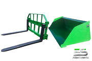 John Deere Jd 72 Snow/ Mulch Bucket And 48 Pallet Forks Combo Local Pickup