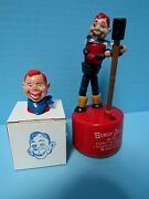 Vintage 1950's Khoner Howdy Doody Push Puppet Toy And Pencil Topper - Vg Condition