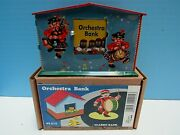 Classic German-style 1930s Retro Orchestra Mechanical Tin Disappearing Coin Bank