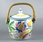Art Deco Poole Pottery Biscuit Barrell Ma Pattern C1950