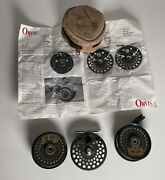 Orvis Cfo 123 Spring And Pawl Fishing Reel And Spare Spool /w Line + Case -england