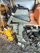 2 Vintage Johnson Outboard Motors For Sale 6 Hp And 9.5 Hp