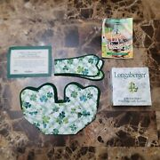 Longaberger 1999 Lots Of Luck Basket Liner And Handle Trim Clover Accessory New