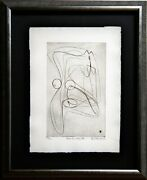 Stanley Hayter Etching Hand Signed Limited Edition W/frame