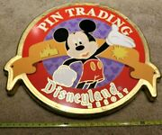 Large Disneyland Resort Used Heavy Wood Rare Mickey Mouse Sign Prop Plaque