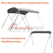 3 Bow 4 Bow Bimini Top Replacement Canvas Fabric W/ Storage Boot Without Frame