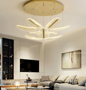 Creative Acrylic Stairs Chandelier Gold Villa Pendant Ceiling Light Hanging Lamp