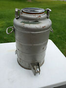 Vintage Large 18 Metal Thermos Stanley It Will Not Break Landers Frary And Clark