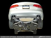 Awe Touring Exhaust System Polished Silver Tips 102mm For Audi B8.5 S5 3.0t