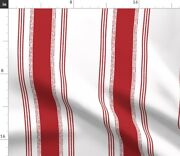 French Stripes Modern Farmhouse Red Striped Spoonflower Fabric By The Yard