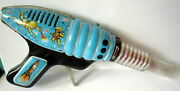 Vintage Very Rare Russian Space Friction Ray Gun Robot Tin Toy 118
