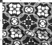 Modern Farmhouse Tile Traditional Spanish Tiles Spoonflower Fabric By The Yard