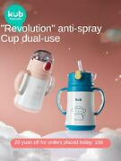 Childrenand039s Thermos Mug Baby Straw Cup Baby Drinking Cup No-spill Cup Water Bottl