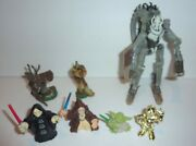 Star Wars 2000andrsquos Hasbro Action Figures Lot Of With Large General Grievous C-pics
