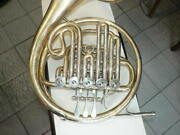 Great Old Double French Horn Hans Hoyer With Vincent Bach Mouthpiece