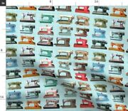 Sewing Retro Vintage 1950s Novelty Room Machine Spoonflower Fabric By The Yard