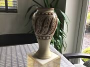 Arts And Crafts Movement Pottery Vase Scottish Or Welsh Seaton Buckley Unsigned