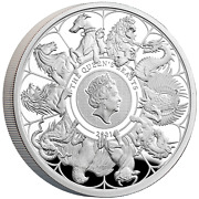 Great Britain Uk 2021 Andpound2 Queens Beasts Completer 1 Oz Silver Coin Royal Mint