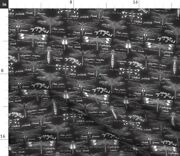 Dragonfly Odonata Insects Science Nature Cursive Spoonflower Fabric By The Yard