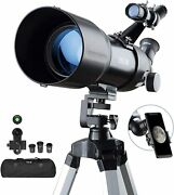 Telescopes For Adults Astronomy Beginners Kids 400x80mm With 10x Smartphone Adap