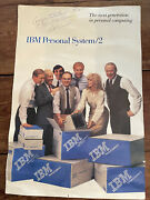 1980's Ibm Ps/2 Poster - Signed By Bill Lowe, Head Of Boca Raton Ibm Esd Pc Team