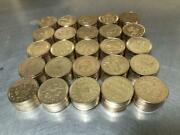 250 Brass / Gold Colored Pachislo Slot Machine Tokens .984 25mm Tumble Cleaned