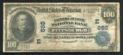 1902 100 Db Farmers Deposit Nb Of Pittsburgh, Pa National Currency Ch. 685