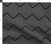 Needlepoint Black And White Diamond Square Spoonflower Fabric By The Yard