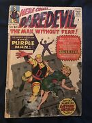 Daredevil 4 1964 Key Issue 1st Purple Man - Low Grade Reader But Complete