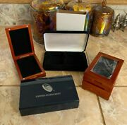 Guardhouse Wood Hinged Boxes And Other Coin Boxes For Pcgs Coins