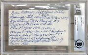 Willie Mitchell Index Card Authentic Autograph Auto Signed Inscribed Babe Ruth