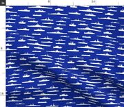 Us Navy Coast Guard Wwii Thin Line Textiles Fabric Printed By Spoonflower Bty