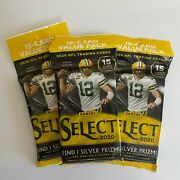 Panini 2020 Nfl Select 15 Card Value Pack ⭐lot Of 3⭐ Cello Fat Pack