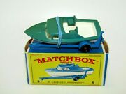 Matchbox Lesney No 9d Boat And Trailer Dark Green/turqouise Body Vnmib Very Rare